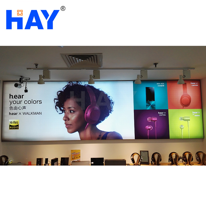 Customized manufacturer round corner fashion advertising aluminum farbric light box With Good Prices
