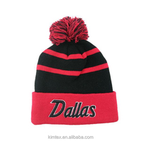 Wholesale fashion custom acrylic knit winter hat