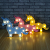 Various shapes 3D Marquee 3W LED Lamp Warm White Night Light Xmas Romantic Decor (unicorn)