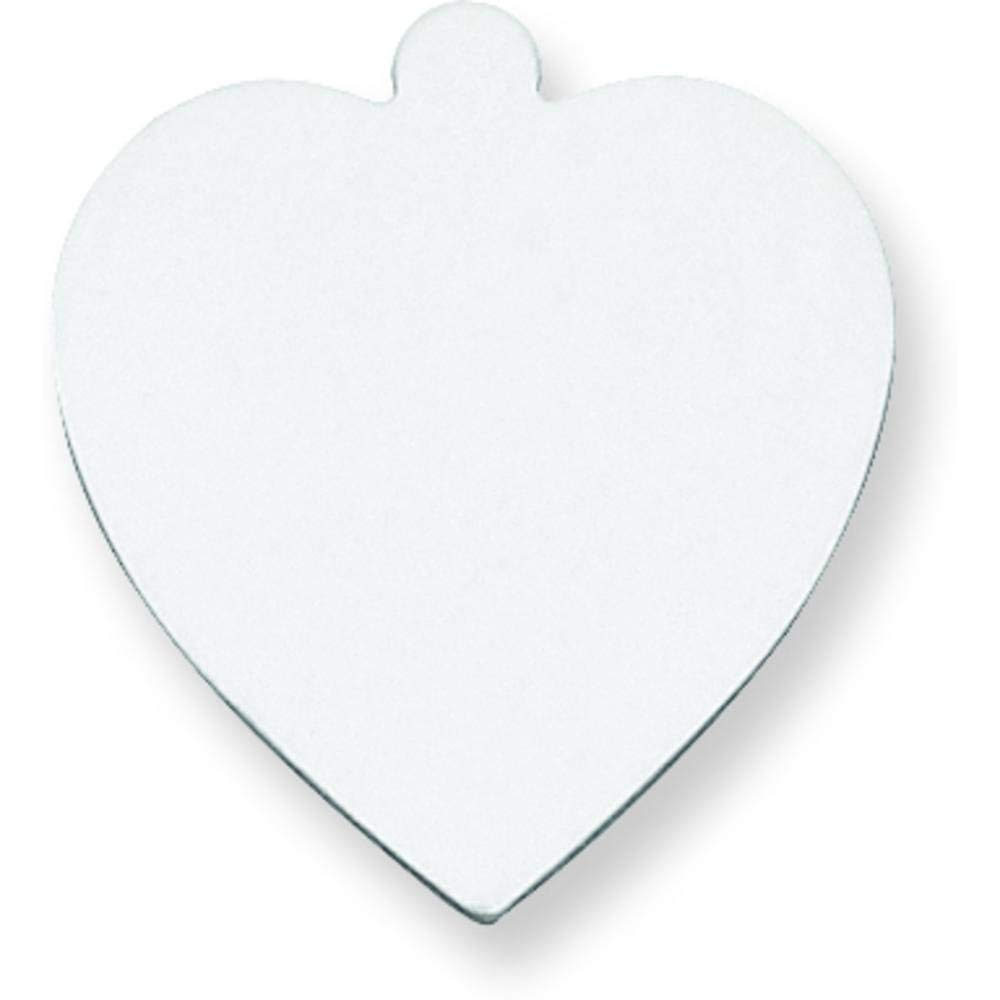 Sterling Silver Heart Stamping Disc 0.018""