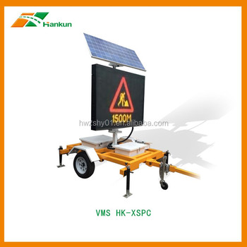 Variable Message Signs LED Full Matrix Trailer Solar Power VMS Factory