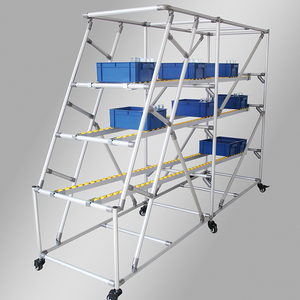 light duty t slot aluminum tube pipe shelves trolley wheels caster