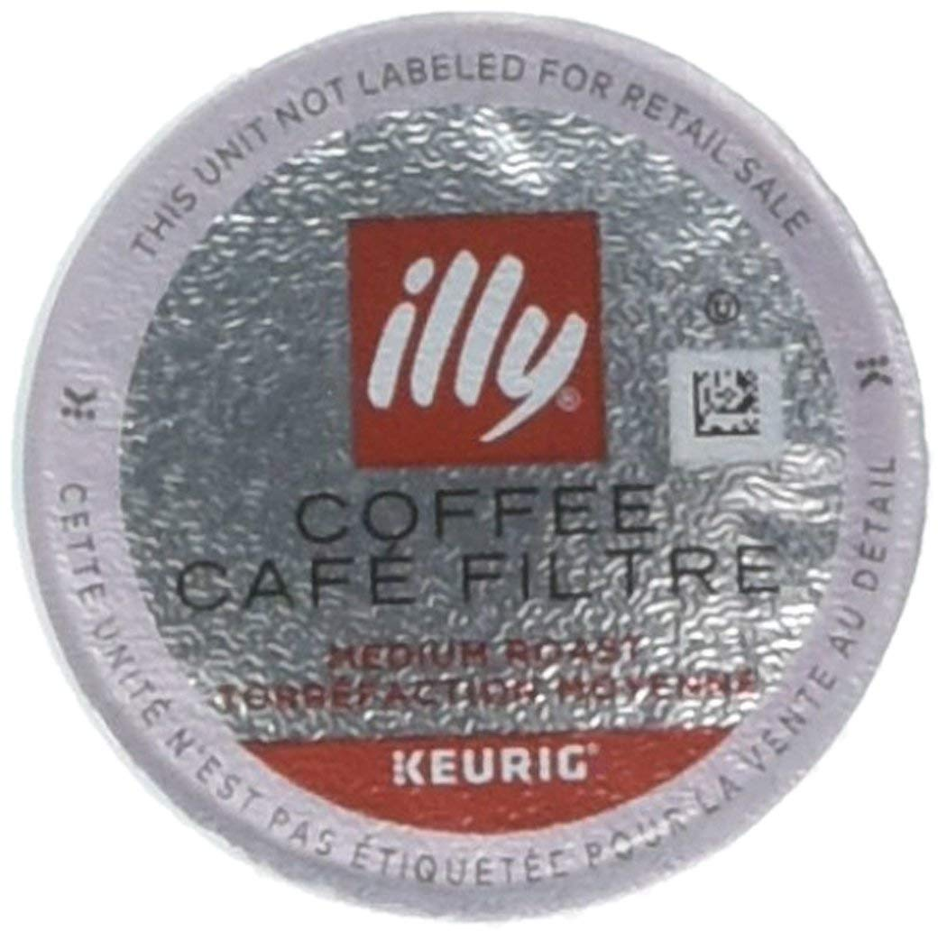 illy Coffee, Medium Roast, K-Cup for Keurig, 100% Arabica Bean Signature Italian Blend, Premium Gourmet Roasted Single Serve Drip Brewed Coffee, Made for Keurig K-Cup Brewers, 10 Pods (Pack Of 6)