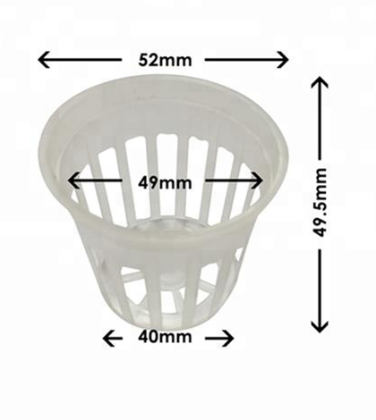 Hydrofarm Net Cup Round Orchid Hydroponics Slotted Mesh Net Pot