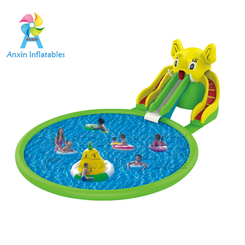 Intex Above Ground Big Kids Elephant Inflatable Swimming Pool Water Slide Pictures At Home