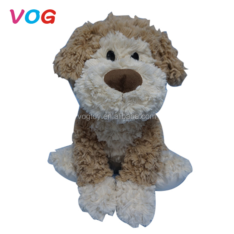 Wholesale oem plush animal toy factory brown dog stuffed toys for sale