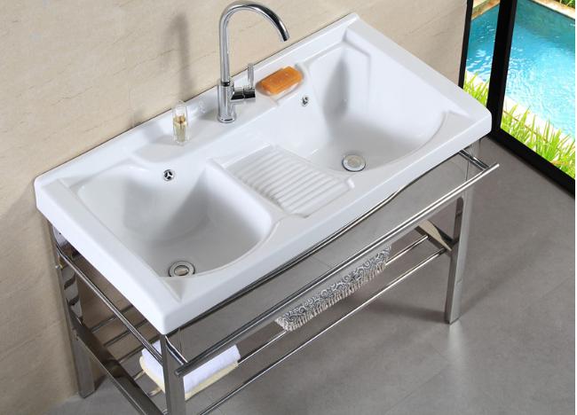 Chaozhou cermics parete doppia vasca lavatoio con accessori ...