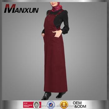 Graceful Hijab Styles Dungaree Dress Model Cute Abayas Women Pesta