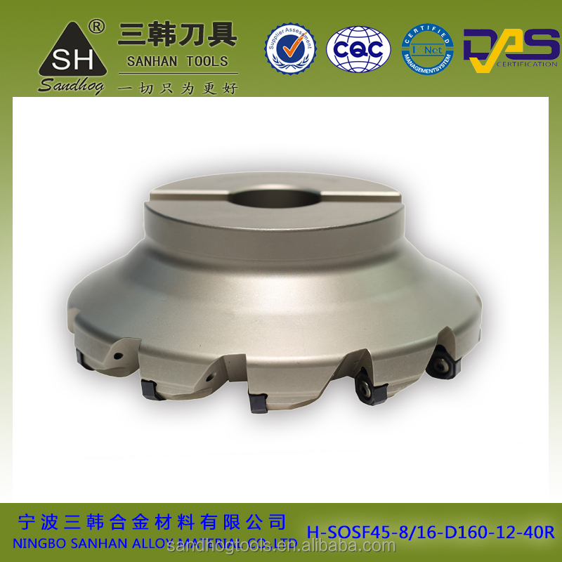 sandhog face milling cutting milling cutter milling tools accessories in tool holder