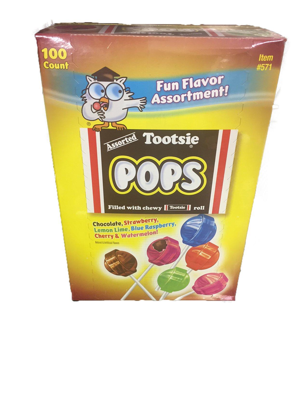 Tootsie Pops Fun Flavor Assortment 100 pops