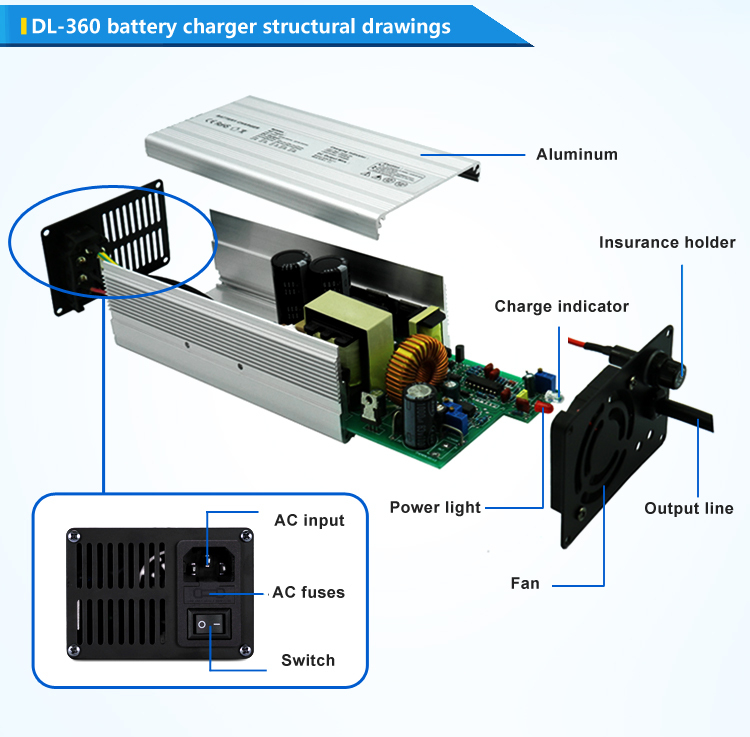 Ac 110v 220v Input Lifepo4 Battery Charger For India Auto Rickshaw ...