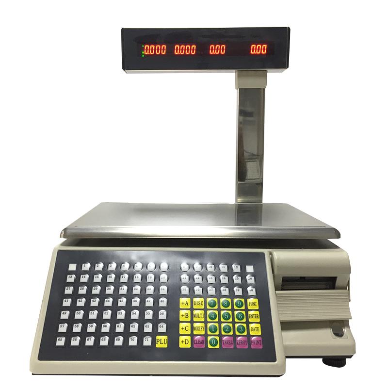 30kg बिजली नकदी रजिस्टर पैमाने वजन बिलिंग मशीन के साथ प्रिंटर TM-15A-5D फुटकर बिक्री बारकोड लेबल मुद्रण मशीन