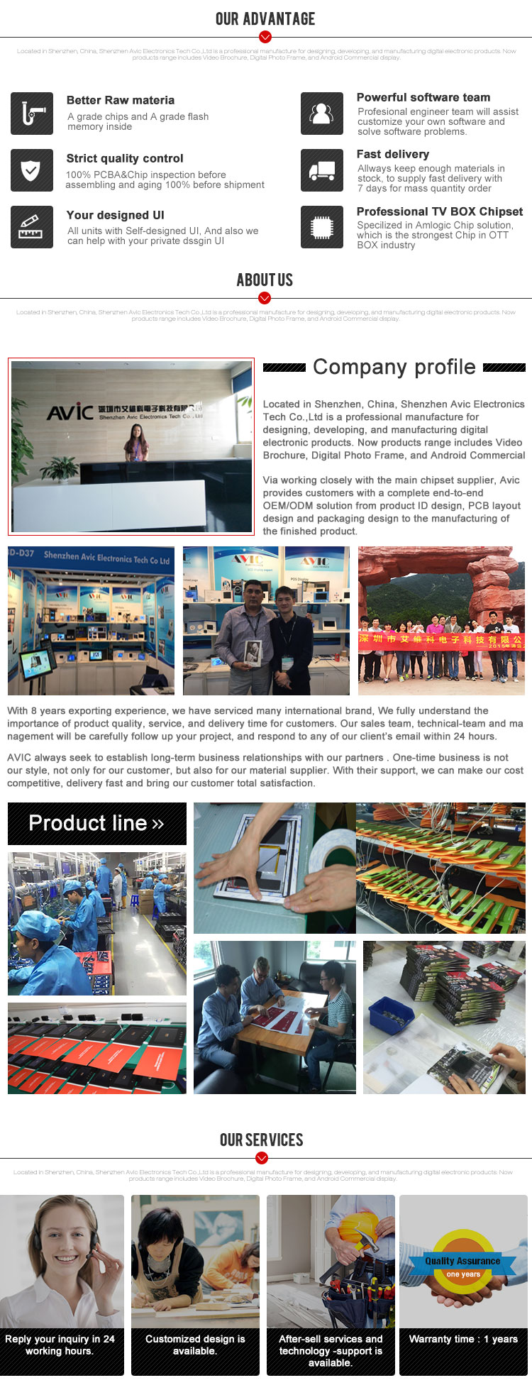 2019 The Best-selling Video In Print Lcd Video Greeting Card Book Brochure with built-in memory