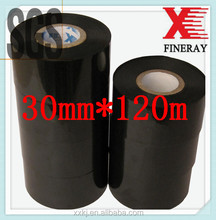 FINERAY brand 30mm*120m for Batch Coding used on labeling/coding machine hot stamp printer black ribbon