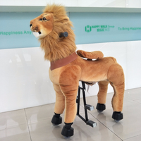 HI CE New Landing! Mechanical Horse Animal Ride on Horse Lion Ride on Pony Kids Toy for Children