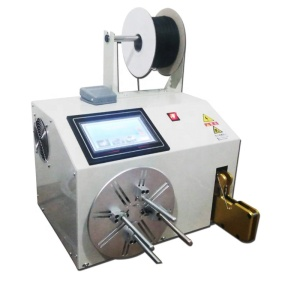 Newest touch screen semi-auto wire winding machine spooling binding machine