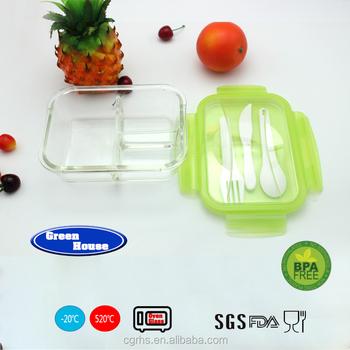 3 Compartment Glass Meal Prep High Borosilicate Food Storage