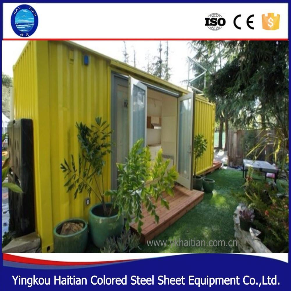 20ft 40ft günstige moderne häuser bereit zu installieren export modulare hotel prefab shipping haus verkauf in