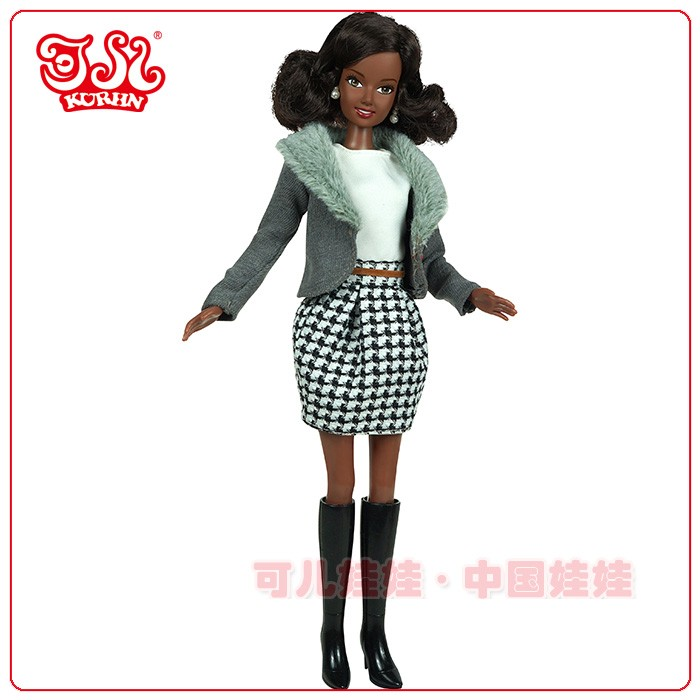 Plastic Material and PVC Plastic Type black doll