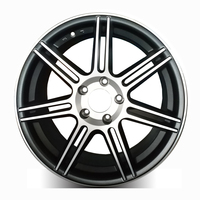 wholesale 15'' 7.0j black wheels