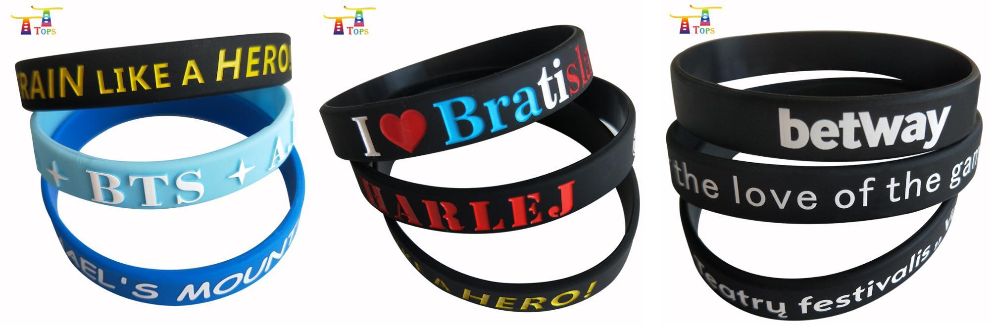 Nuovo prodotto regali promozionali personalizzati wristband del silicone, braccialetto del silicone, silicone bracciale