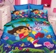 Cartoon Single Size Luxury 3pc Duvet Cover , Microfiber Comforter 3D kids character bedding.
