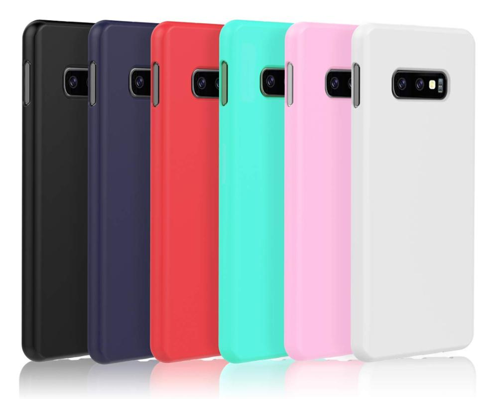 Ultra Thin Soft Matt Frosted TPU Candy Solid Color Silicone Mobile Phone Case For Samsung Galaxy S10E