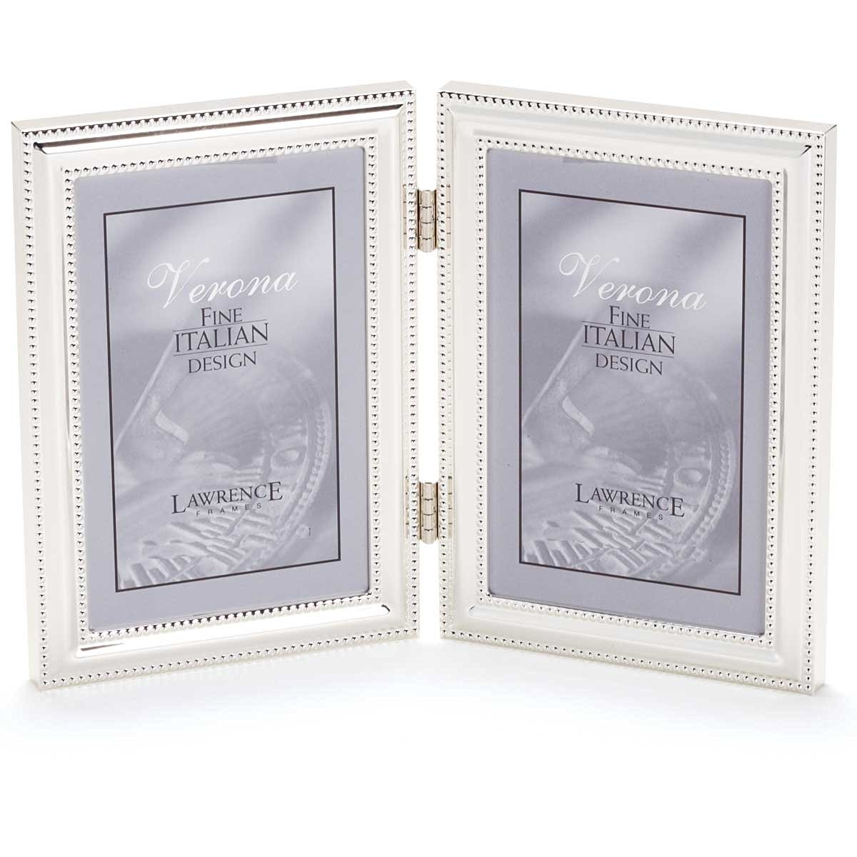 Cheap double silver frame find double silver frame deals on line get quotations lawrence frames hinged double vertical metal picture frame silver plate with delicate beading jeuxipadfo Image collections