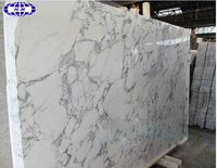 Polished Italy arabescato white marble