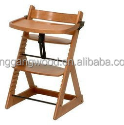 Restaurant Infant Feeding Antique Wood Baby High Chair