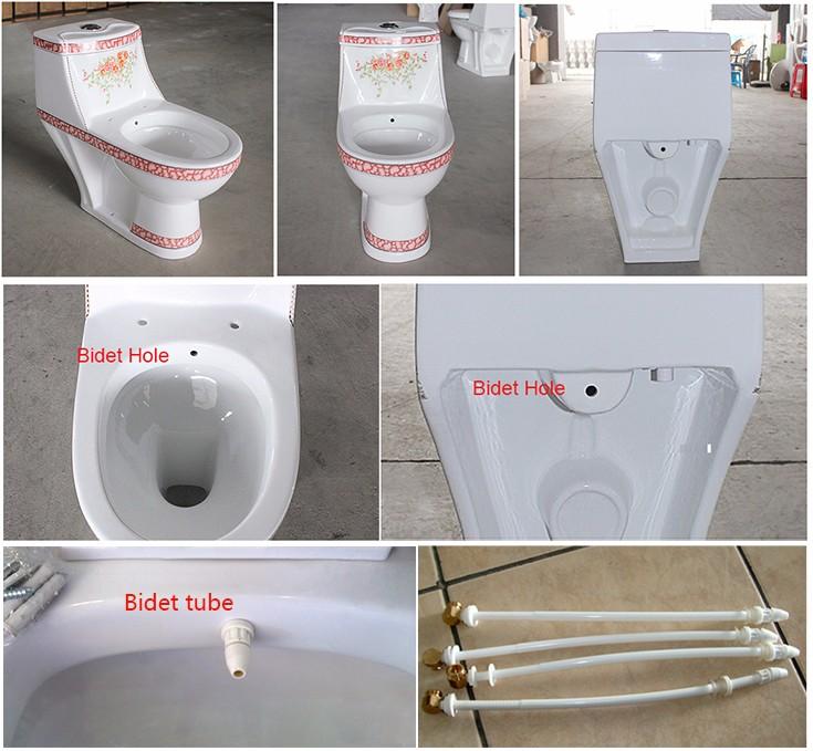 Sanitaire Salle De Bain En Ceramique Une Piece Toilettes Wc Colore