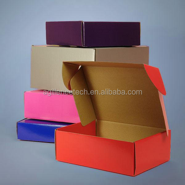 2015 Small Mail Paper Customized Printed Kraft Corrugated paper shipping box