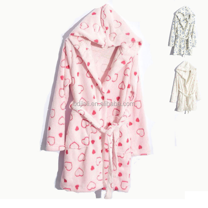 100% Cotton Kids Bathrobe With Your Own Label
