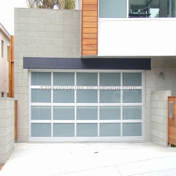 Tilt Up Garage Doors / Aluminum Frame Frosted Glass Garage Door