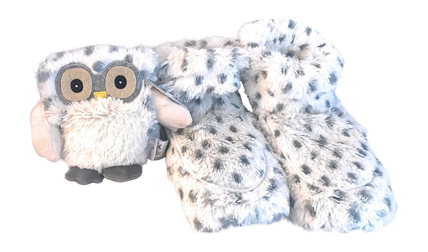 db7cfe0e7c9 Get Quotations · Warmies Intelex Cozy Boot Slippers (Snowy) Microwaveable  and Snowy Owl Heated Microwavable Plush Jr