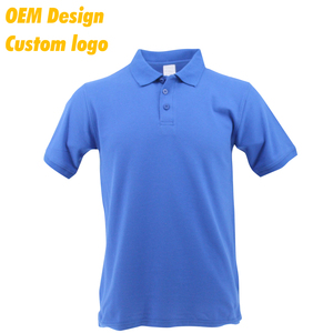 Custom Promotion Blank CVC Short Sleeves men Polo Tshirt