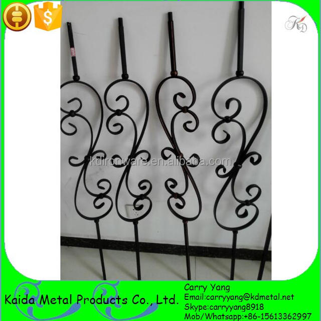 Interior Stair Parts Wrought Iron S Scroll Balusters, Scroll Metal Baluster