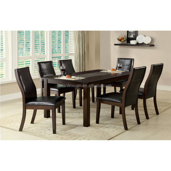 2015 new design wooden dining table and chair sets xyn1482 for Latest dining table designs 2015