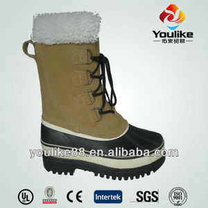 YL9002 2014 Wholesale Leather Men Cheap Snow Boots