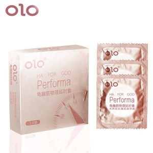 OLO Natural Latex Passion Condom Ribbed and Dotted Condom Condom Safe for Men 10pcs/box