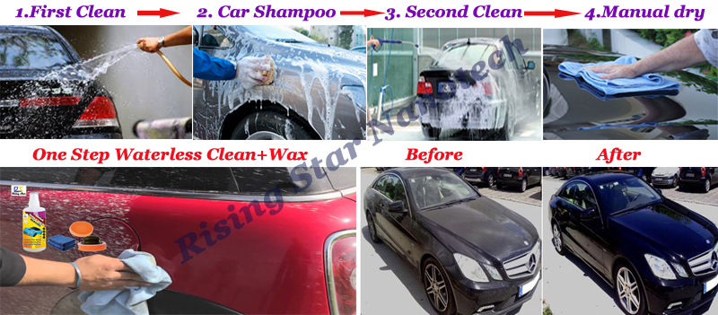 waterless car cleaning wax  9H nano ceramic glass coating and water repellent glass coating