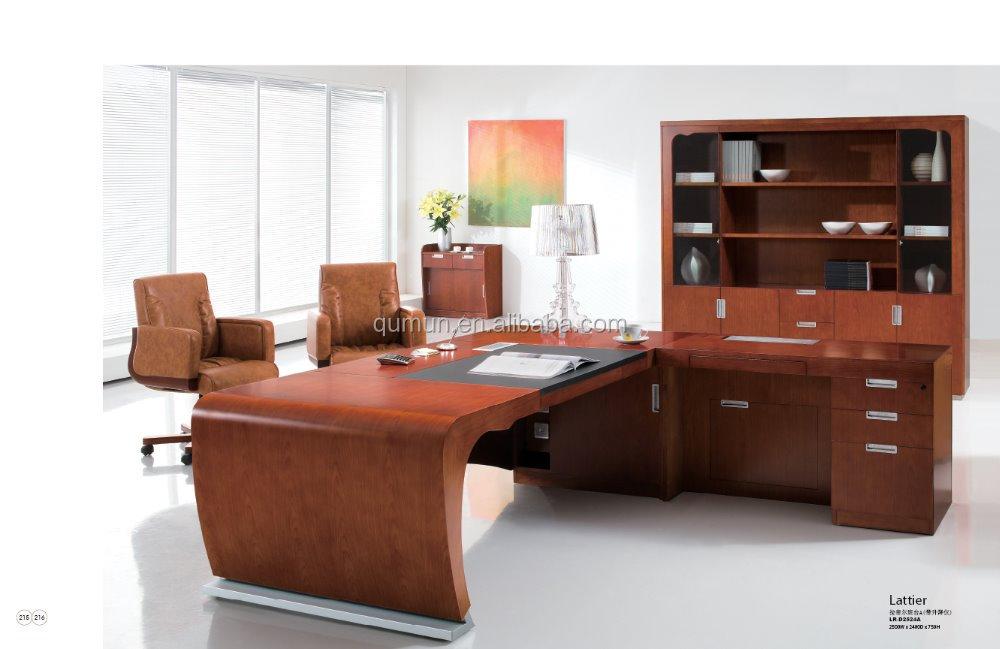 Dise o moderno ltimo dise o elegante de madera ejecutivo - Modelos de escritorios de madera ...