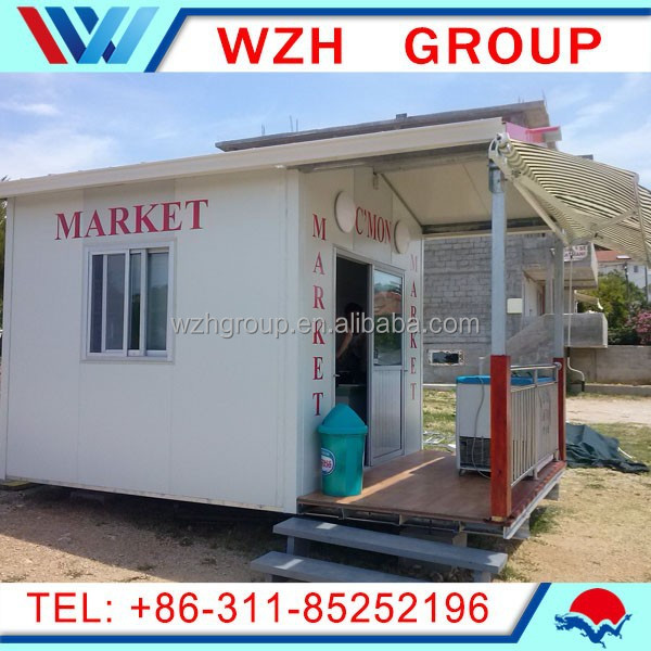 economical and fast installation sandwich panel prefab booth/ kiosk