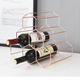 550-10 household creative honeycomb design rose gold 6 bottles wine holder with opener available