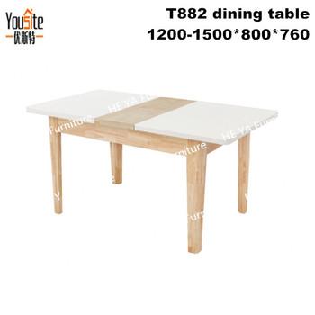 Roble Macizo Muebles De Madera Extensible Mesa De Comedor Plegable T882 -  Buy Mesa De Comedor Extensible,Sólido Muebles De Roble Mesa De Comedor,De  ...