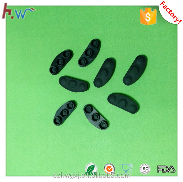 Customized silicone rubber push button