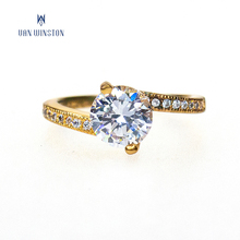 Latest designs gold plated engagement diamond wedding finger ring