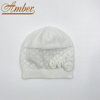 Children's Crochet Hat Knitted Hat Mesh Hat with Knitted Flower Deco