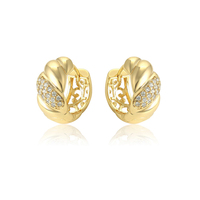 96658 xuping natural diamond korean handmade gold plated earrings