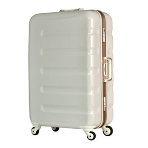 "LEGEND WALKER 6016 47 19"" White carbon aluminum frame trolley PC luggage with TSA locks"